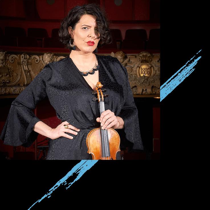 Karen Jeauffreau, professeure de violon à l'Association Mélodix